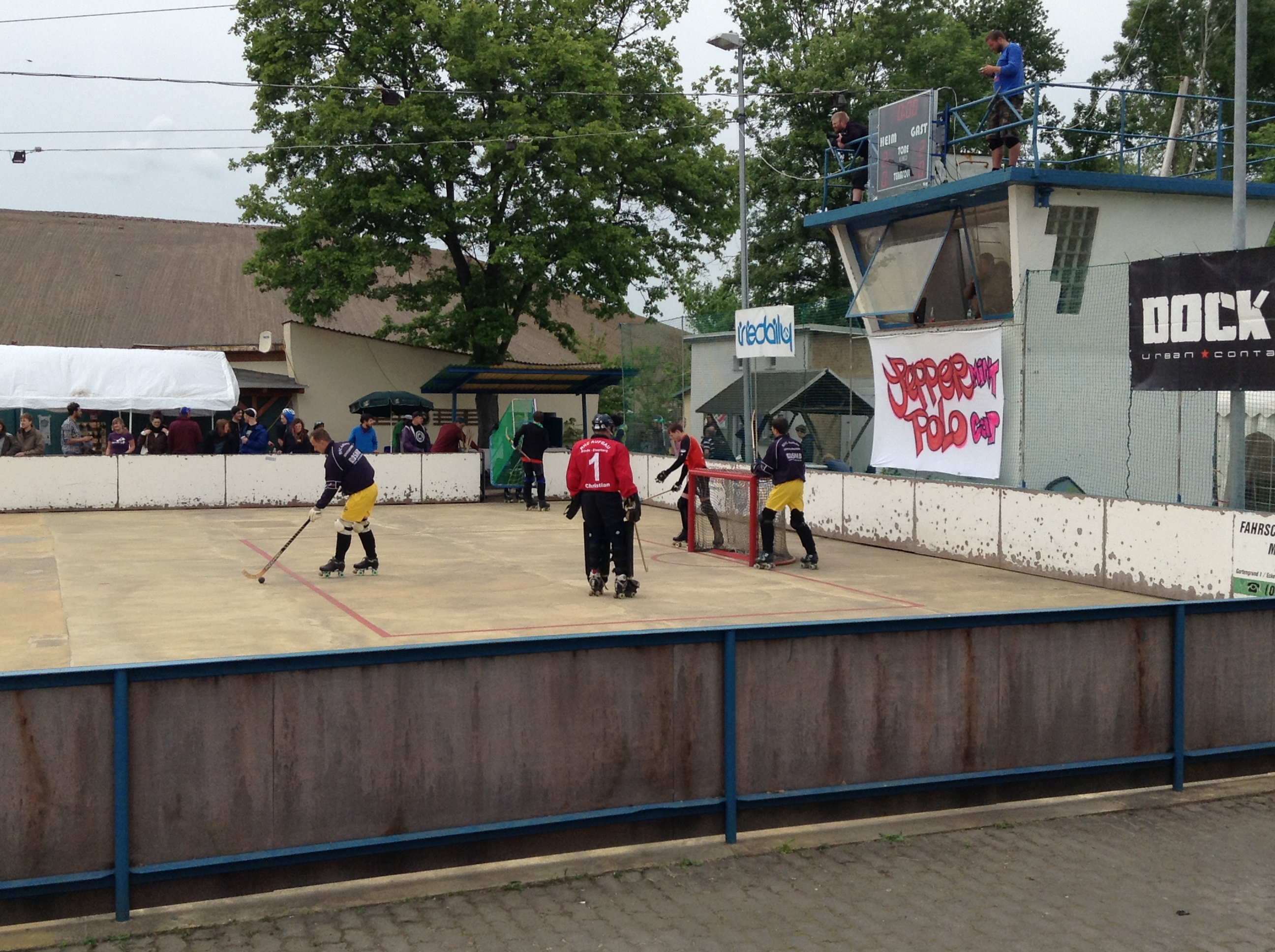 And there was a half-time roller-hockey game!