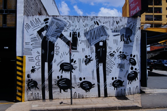 My new favorite mural in Curitiba. Combining Sao Paolo style tagging (see next photo) and mural street art.